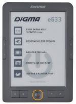 Электронная книга Digma e633, серая